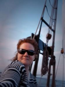 Jenn on Ship