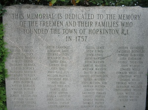 The Town Founders Monument, Hopkinton, RI