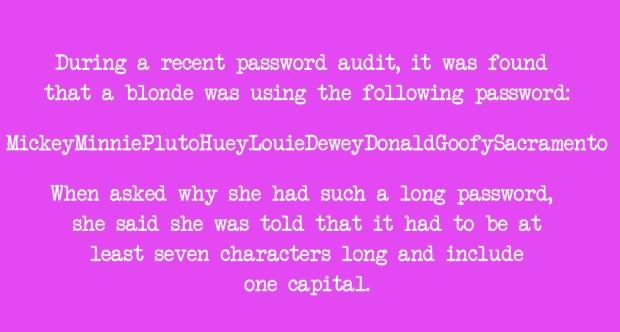 Blonde Password