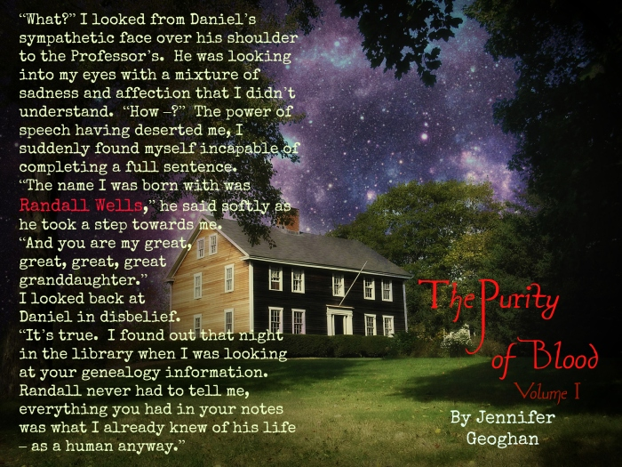 The Purity of Blood, Vol One by Jennifer Geoghan